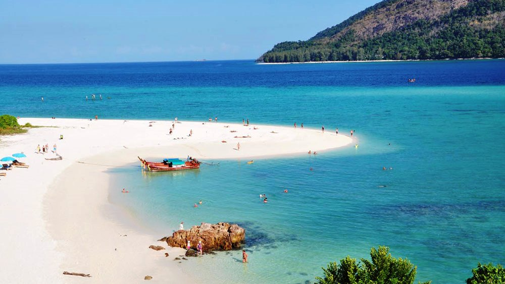Sunrise beach is a famous beach in thailand known for the most